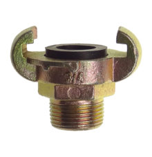 Male coupling with rubber gasket