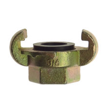 Female coupling with rubber gasket