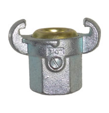 Female coupling with brass gasket
