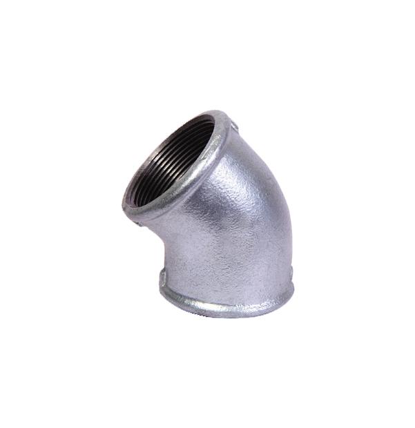 NO 120 - ISO/EN A1 elbow 45° F x F galvanized