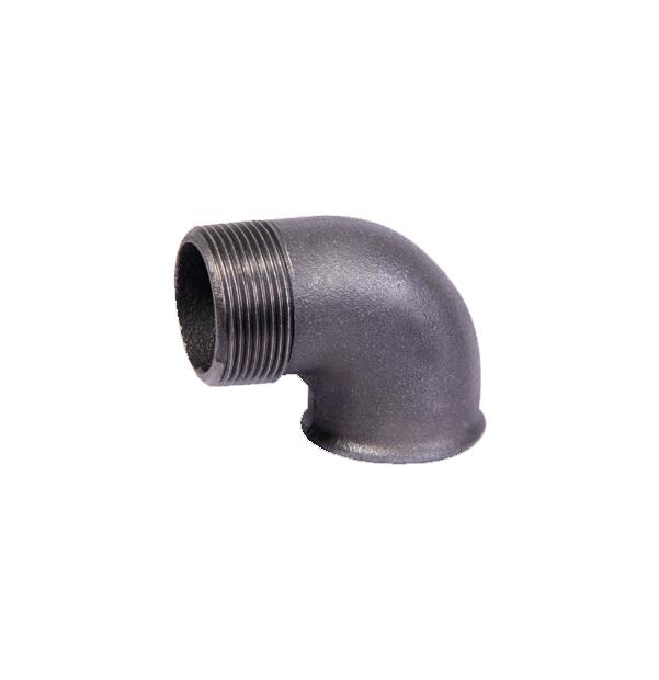 NO 92 - ISO/EN A4 elbow 90° F x M black