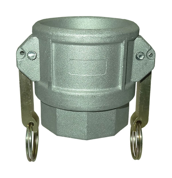 Coupler with female thread type D / DF made of aluminum