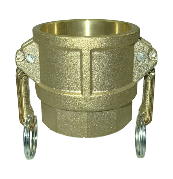 Coupler with female thread type D / DF made of brass