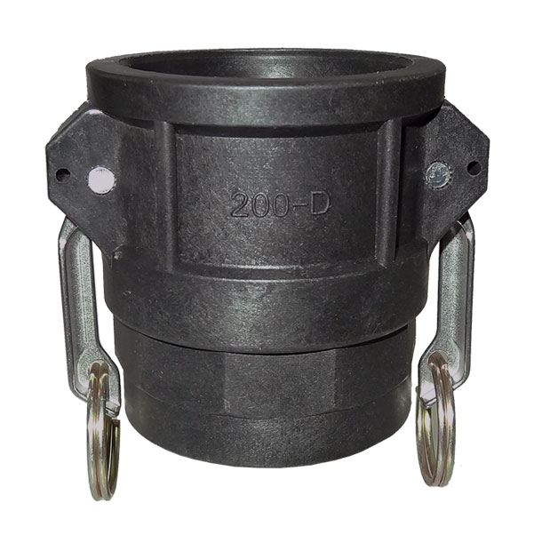 Coupler with female thread type D / DF made of polypropylene
