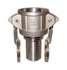 Camlock coupler with hose stem type CC