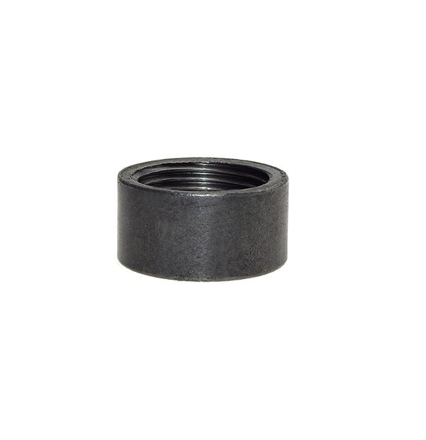 Half socket made of steel black