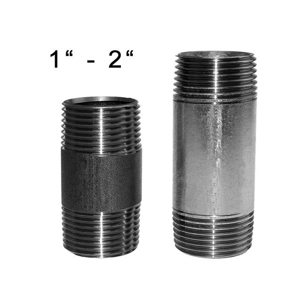 Pipe nipple made of steel