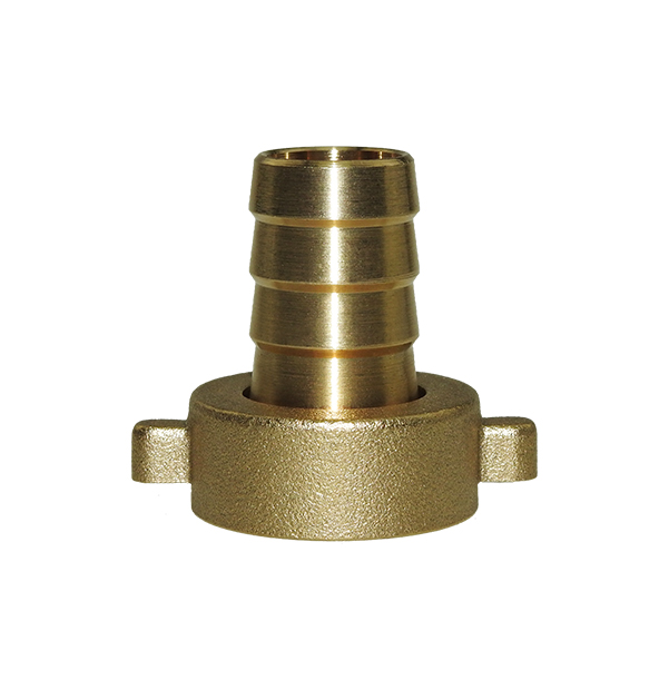 2/3 Hose bard adaptor, flat seal made of brass
