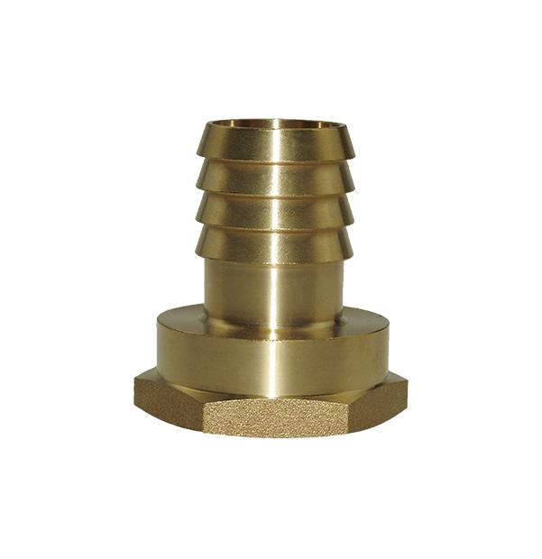 Female thread stem made of brass