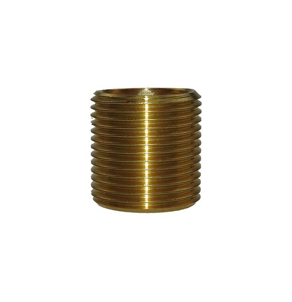 Pipe nipple made of brass