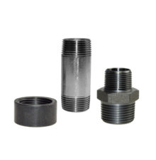 Steel threaded pipe fittings