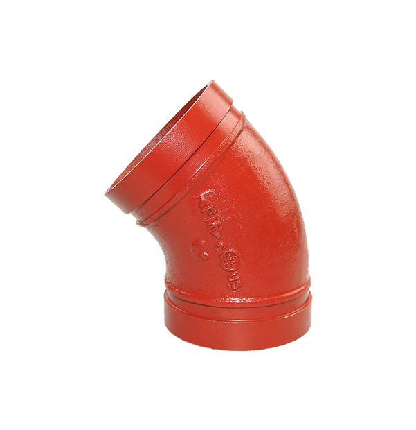 Grooved elbow 45° No. 120 red