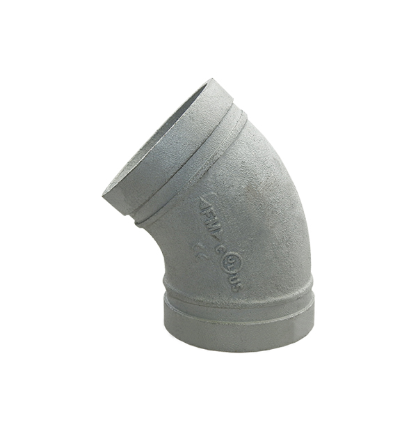 Grooved elbow 45° No. 120 galvanized