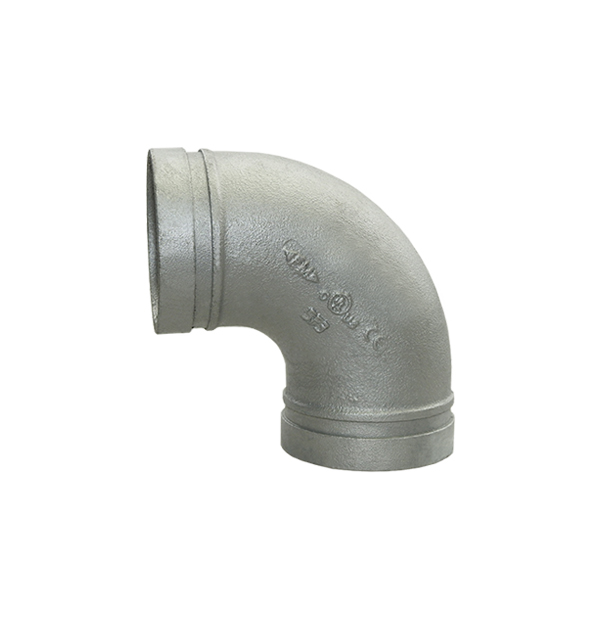 Grooved elbow 90° No. 90 galvanized
