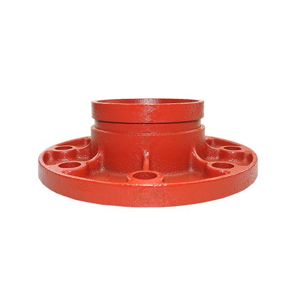 Grooved adaptor flange No. 321G red