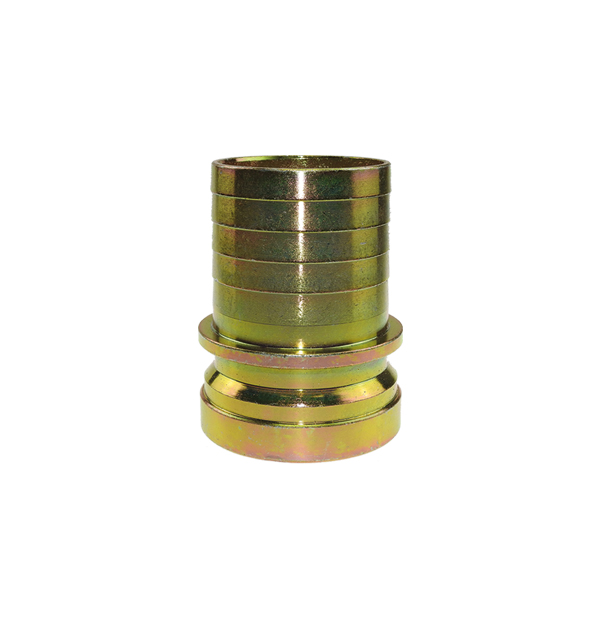 Grooved hose stem with collar for safety clamp