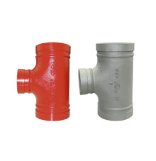 Grooved tee No. 130R with reduced grooved outlet