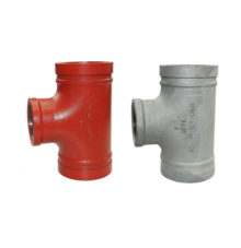 Grooved tee No. 131R with reduced female thread outlet