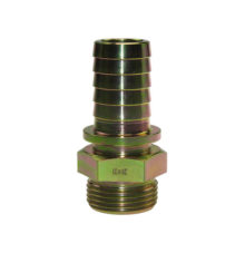 Male thread stem with safety collar DIN 8535
