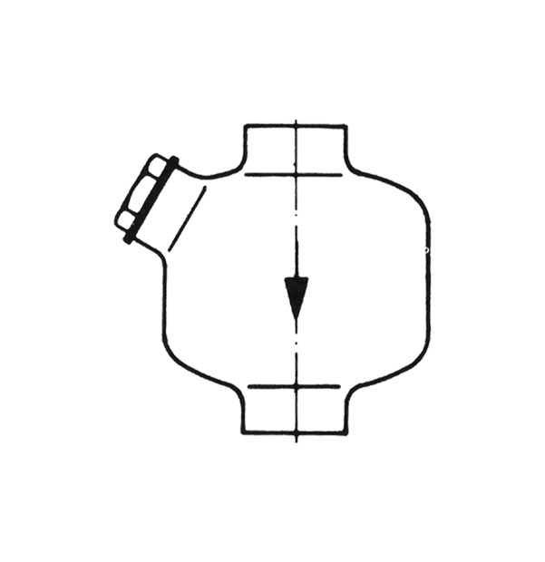 Lubricator for compressed air for vertical installation