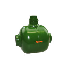 Lubricator for compressed air for horizontal installation