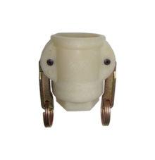 Mutterteil mit Innengewinde, 2-Hebel, Kunststoff (PA6)