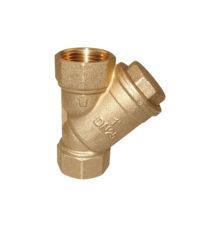 Y-strainer made of brass