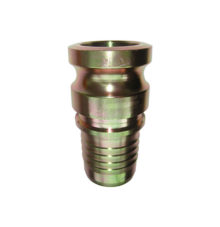 Male adapter with hose stem, hydraulic crimping