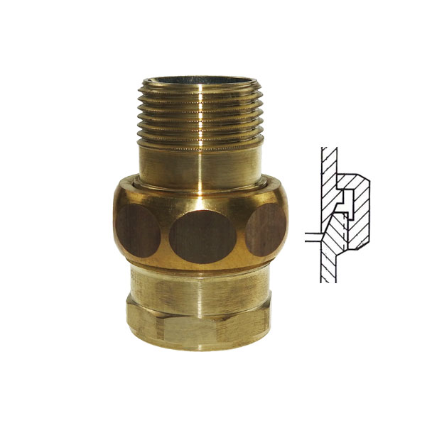 PURAFIT Union, conical sealing, F x M made of brass
