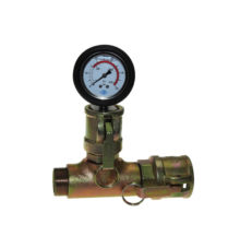 Mortar pressure gauge with mortar coupler and male thread