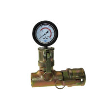 Mortar pressure gauge with mortar coupler and female thread