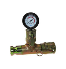 Mortar pressure gauge with mortar coupler and male adapter