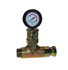 Mortar pressure gauge with male adapter and male thread