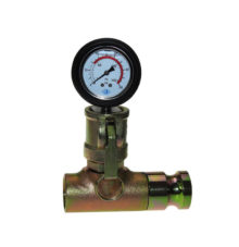 Mortar pressure gauge with male adapter and female thread