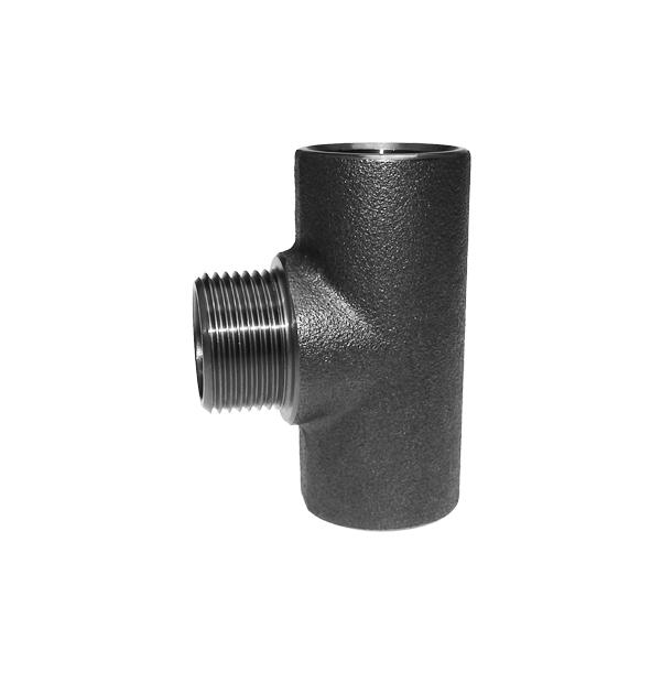 T-Stueck-mit-Aussengewinde-Abgang-Stahl-schwarz