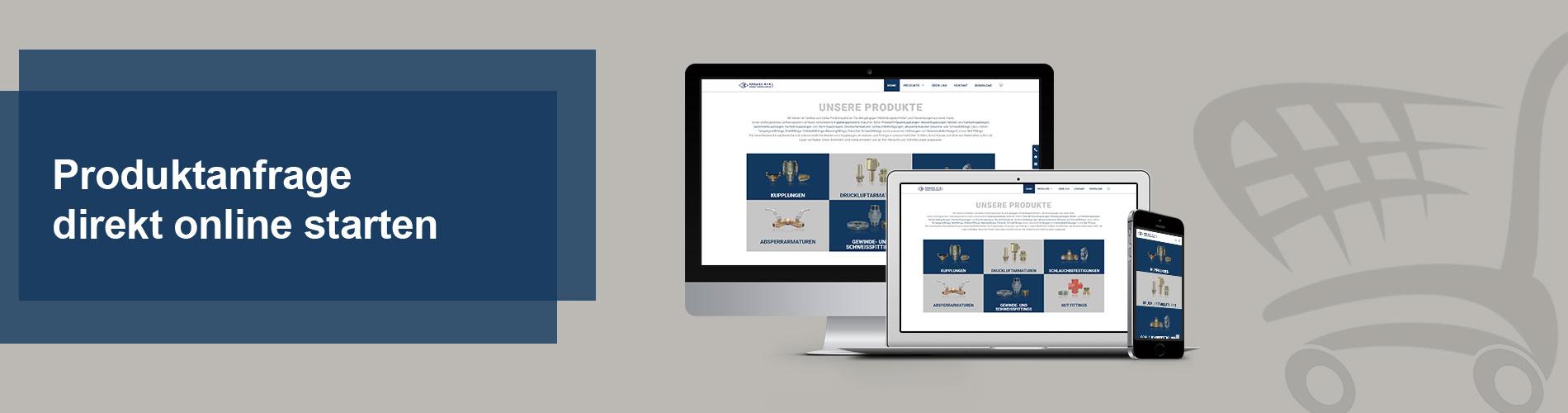 Produktanfrage direkt online starten bei Krause K + K GmbH