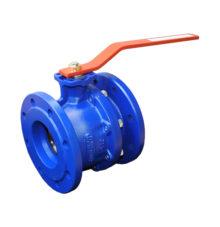 Kugelhahn-mit-Flanschanschluss-blau-lackiert