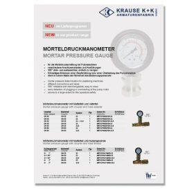 Mörteldruckmanometer